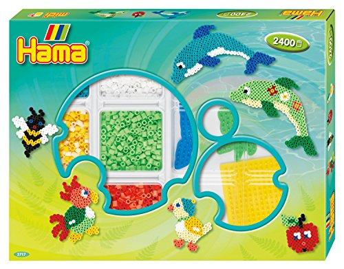 Hama 3717 - Original Bügelperlen Kreativbox Kreise, ca. 2400 Perlen, 3 Stiftplatten und Zubehör