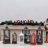 Christmas Lanterns, LED Lighting Creative Decorations, Portable Lanterns, Bronze Retro LED flameless Lanterns (3.14' x 3.14' x 7.87', Elk Style-White)
