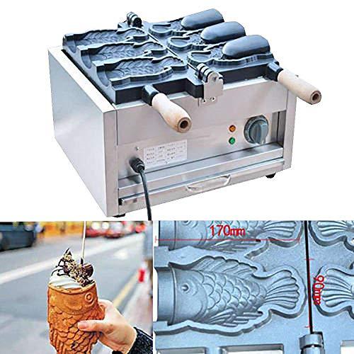 MXBAOHENG Fisch Eis Taiyaki Maker Elektrische Taiyaki Maschine Kommerziell Waffeleisen