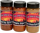 BBQ BROS RUBS {Southern Style} - Ultimate Barbecue Spices Seasoning Set - Use for Grilling, Cooking, Smoking - Meat Rub, Dry Marinade, Rib Rub - Backed with 100% Customer Guarantee