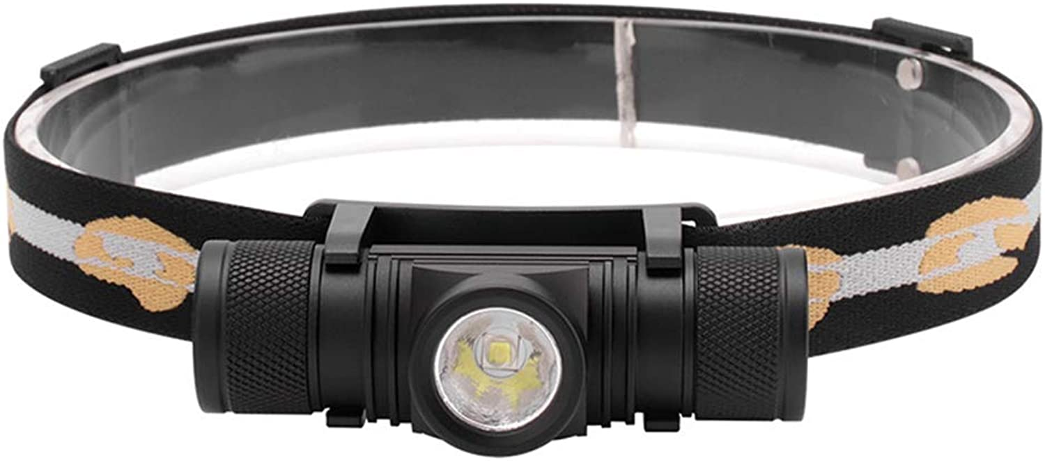 Waterproof Emergency LED Strong Headlight USB Rechargeable Aluminum Alloy Flashlight Detachable, Suitable for Outdoor Night Fishing, Camping and Other Activities
