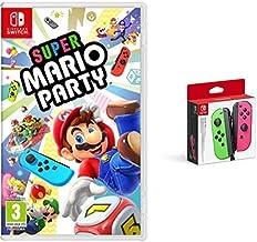 Super Mario Party (Nintendo Switch) & Nintendo - Set De Dos Mandos Joy-Con, Color Verde Neón / Rosa Neón (Nintendo Switch)