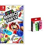 Super Mario Party (Nintendo Switch) & Nintendo - Set De Dos Mandos Joy-Con, Color Verde Neón / Rosa Neón (Nintendo Switch)