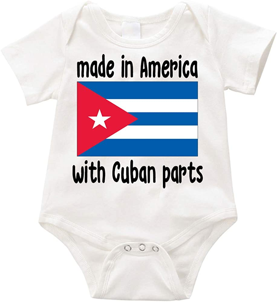All items in the store VRW Deluxe Made America with Cuban Romper Parts Bodysuit- Unisex NB