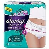 Always Discreet Culottes Normal M Pour Fuites Urinaires et Incontinence Un pack de 12