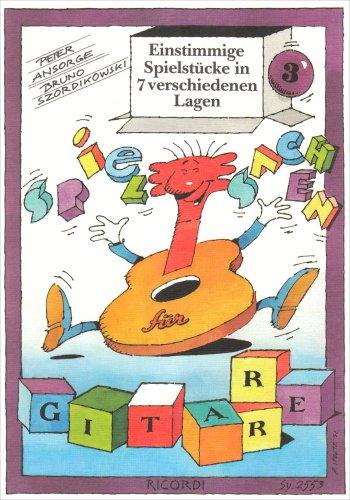 Einstimmige Spielstücke in 7 verschiedenen Lagen. Gitarre