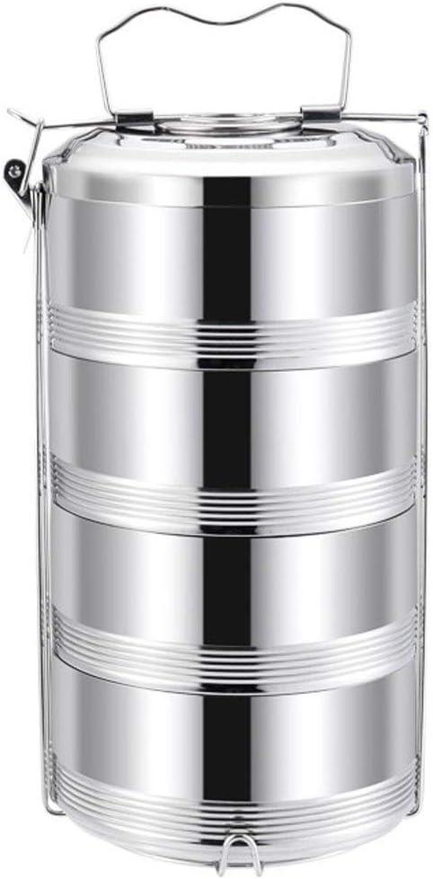 LYUN Fiambrera de Acero Inoxidable de múltiples Capas a Prueba de Fugas Cuadro de Mantenimiento de la Fresca Estudiante Chica Chico (Color : Four Floors)