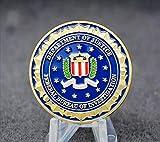 Heqing WR novità Moneta Colorata in Oro Puro 24K Placcato del Dipartimento di Giustizia Americano Moneta Americana dell FBI Metal Challenge per Regalo
