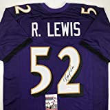 Autographed/Signed Ray Lewis Baltimore Purple...