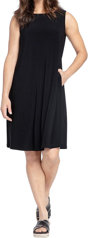 Sympli Womens Sleeveless Trapeze Dress Style 2894S