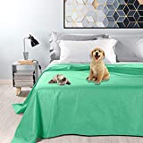 Byour3® Wasserdichte Tagesdecke für Doppelbett, Möbeldecke aus Baumwolle, schmutzabweisend, für Haustiere, waschbar, für französisches Bett, Frühling, Sommer, Anti-Haare, Kratzer (Wasser, Doppelbett)