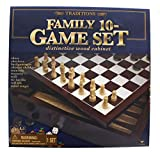 Traditions Family 10 Wooden Cabinet Game Set