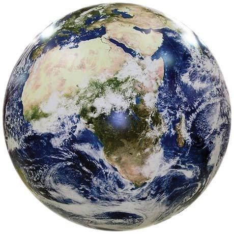 衛星写真を元に作られたリアルな地球風船 蓄光塗料付き 教材にも使えます EarthBall (40�p (16インチ)) [並行輸入品]