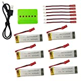 sea jump Model Aircraft Battery 6pcs 3.7 600mAh for UDI U817 U818A for V959 V222 V929 for S032 Four-axis Aircraft Helicopter Battery Charger Upgrade Accessories
