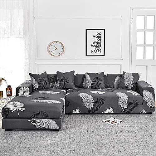 WXQY Funda de sofá Floral para Sala de Estar, Funda de sofá reclinable elástica, Funda de sofá elástica, Funda de sofá en Forma de L, Toalla de sofá A26, 2 plazas