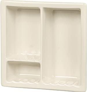 Apple Creek Ceramic Fixtures Shower Niche Compartment, Triple, Bone