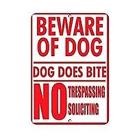 126新しいブリキの看板は犬の犬に注意してください噛むことはありません不法侵入を求めるアルミニウム金属の看板壁の装飾8x12インチ