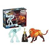 Schleich 42455 Eldrador Creatures Play Set - Batalla por la arma - Monstruo del hielo vs León de fuego, juguetes a partir de 7 años