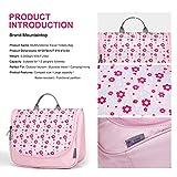 Mountaintop Kulturbeutel Kosmetiktasche Kulturtasche zum Aufhängen Toiletry Bag Waschtasche für Reise Urlaub, 24 x 9 x 19 cm (B – Pale Pink (L)) - 5