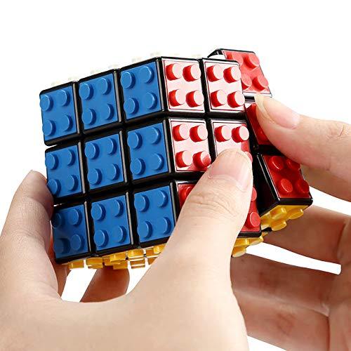 Modbrix Bausteine Zauberwürfel Brick Cube Anti Stress Fidget Würfel