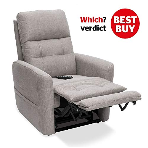 Augusta Dual Motor Electric Riser Recliner Chair in soft fabric finish