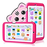 Kids Tablet 7 inch Android 10.0 - Kids for Tablet with Case - Quad Core - RAM 1GB | 16GB ROM - Kids Edition Tablets JUSYEA J3-3000mAh Battery | WiFi | Bluetooth, Entertainment | Education (Pink)