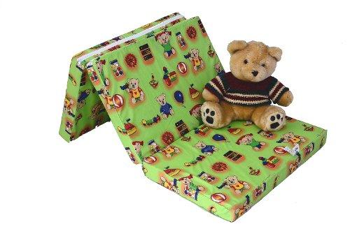 Best For Kids Matratze für das Reisebett 120 x 60 x 6 cm inkl.Transporttasche Kinder-Rollmatratze Kindermatratze in 3 Farben (Grün)