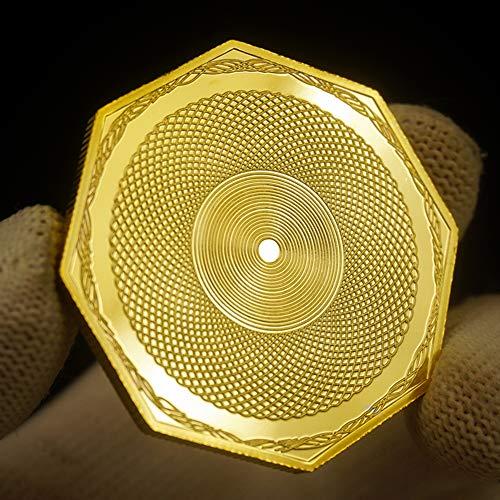LSJTZ 1851, buscadores de Oro, en Forma Especial,-octogonales, Monedas conmemorativas, Dorado, Hermoso, colección, Exquisita, Regalos, 2pcs