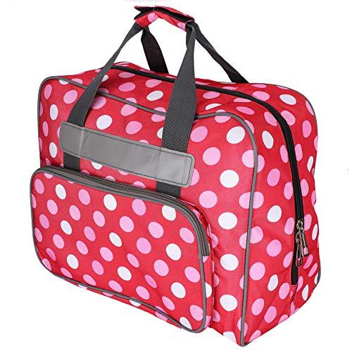 Estuche para máquina de coser con múltiples bolsillos de almacenamiento, bolso portátil a prueba de polvo para la mayoría de las máquinas de coser y accesorios estándar