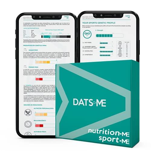 DATS ME – Pack de NutritionMe y SportMe, Test Genético de Nutrición Personalizada y Rendimiento Deportivo, Incluye Kit de ADN