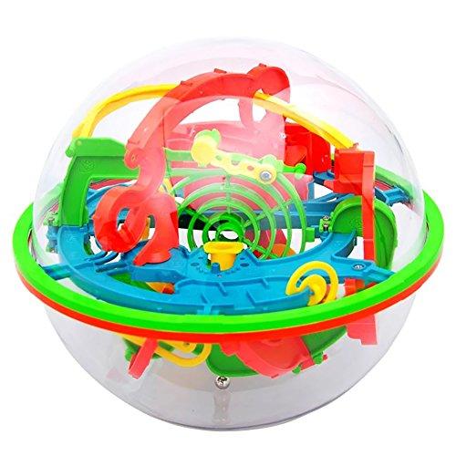 AAGOOD Palacio Bola Laberinto mágico de Inteligencia de la Bola 1 Pack3D Laberinto Rompecabezas de la Bola de Juguete 100 Barreras Labyrint