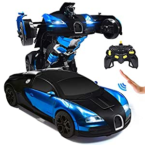 RC Cars Robot for Kids Remote Control Car Transformrobot Toys for Boys Girls Age of 6,7,8-16 Year Old Gifts One Button…