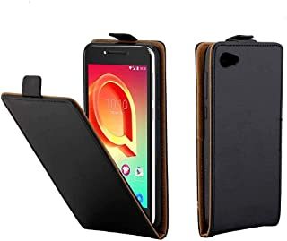 JIANGNIAE Phone Case For Alcatel A5 LED TPU Business Style Vertical Flip Protective Leather Case with Card Slot(Black) (Co...
