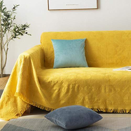 Decorativo de punto sofá manta de algodón suave alfombra sofá toalla celosía tapiz familia sala de estar sofá conjunto cama avión viaje