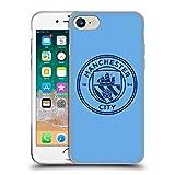 Head Case Designs Ufficiale Manchester City Man City FC Mono Blu Ossidiana Stemma Cover in Morbido Gel Compatibile con Apple iPhone 7 / iPhone 8 / iPhone SE 2020