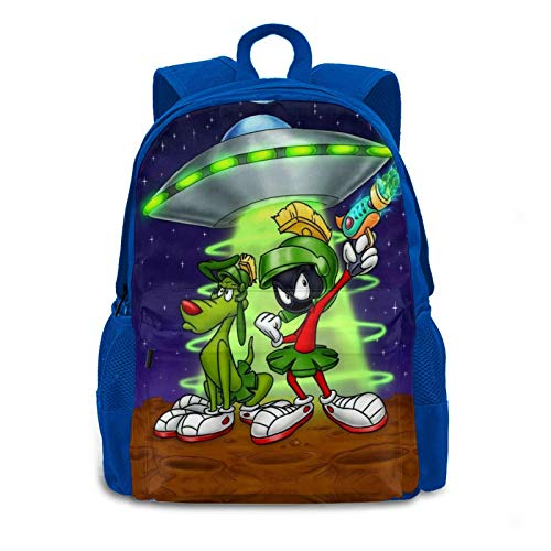 Marvin-Martian Adult Backpacks for Travel, Large Capacity School Backpack Anime Pattern Cool Book Bag