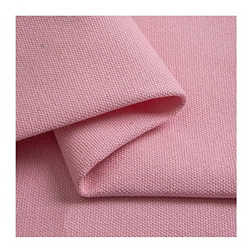 Tela de Lona de Algodón Material Textil Rosa Tela de Tapicería para Sofá, Bolsas Textiles Gruesas, Tela de Cortina de Bricolaje Vendido por Metro(Ancho 150 cm)