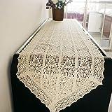 Gehäkelt Stickerei Tischläufer für Tischdekoration Baumwolle Romantische Europäischen Tischdecke 40x150cm Beige