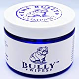 Bully Wipes - Bulldog Wrinkle Wipes Specifically for Bulldog Breeds All Natural Organic Formula Refreshing Botanical Scent - Removes Dirt Bacteria Yeast - Safe to use around Eyes, Ears, Paw, Wrinkles!