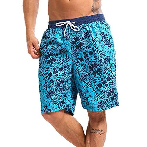 FRAUIT Heren trenddruk zwemshorts uitverkoop heren shorts zwembroek sneldrogend strand surfen lopen zwemmen water broek