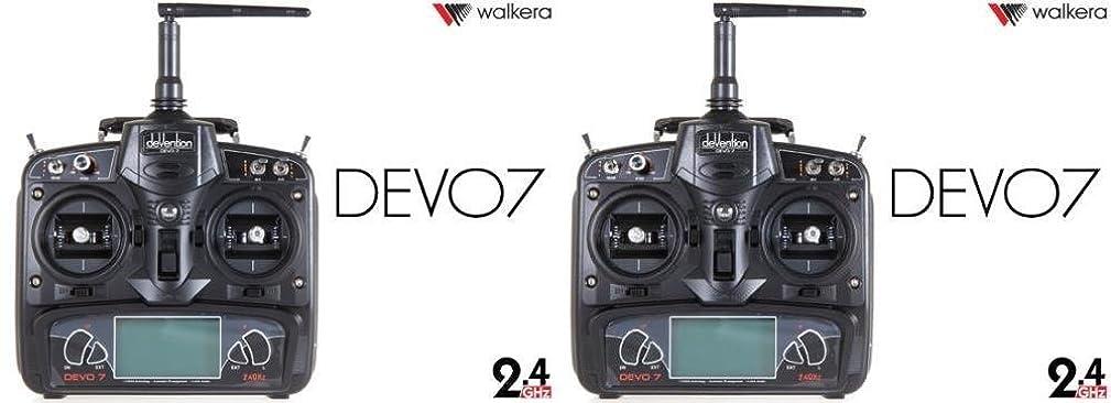 HobbyFlip Devention Devo 7 Radio Transmitter 7 Channel TX for Walkera QR X350 FPV 2 Pack