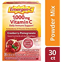 30-Count Emergen-C Cranberry Pomegranate Vitamin C 1000mg Powder