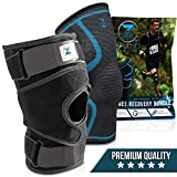 Zenith Knee Brace and Sleeve Bundle - Adjustable Support Braces for Men and Women, Best Neoprene Compression for Knees with Meniscus Tear, Arthritis, Patella, MCL, ACL (Large)