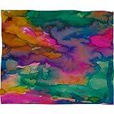Deny Designs Amy Sia Ardour Fleece Throw Blanket, 60-Inch by 50-Inch