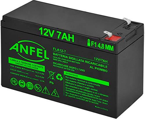 Batteria Lead Acid AGM 12V 7Ah al Piombo Ricaricabile Pila Batteria Ermetica Batterie di Ricambio per ups Impianto di Allarme Veicoli Emergenza Elettronica Prodotti Medici