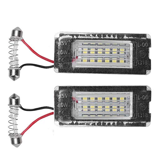 Kentekenplaat LED-lamp, paar LED-kentekenplaatlamp Licht Directe aanpassing 12V LED-auto-vervanging Past voor Mini R56(12V)