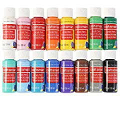 Must-have painting supplies, this acrylic paint set includes 16 assorted classic colors ideal for a variety of arts and crafts projects. This non toxic acrylic paint is perfect for a variety of projects, including paint, fine art techniques, card mak...