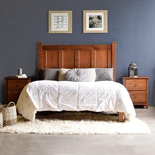 Grain Wood Furniture Shaker Panel Queen Solid Wood Platform Bed Walnut N/A