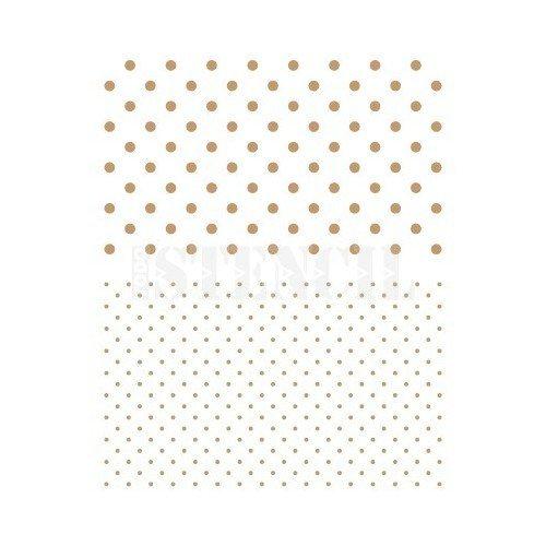Stencil Deco Fondo 049 Topos y Topitos. Medida exterior del stencil: 20 x 30 cm