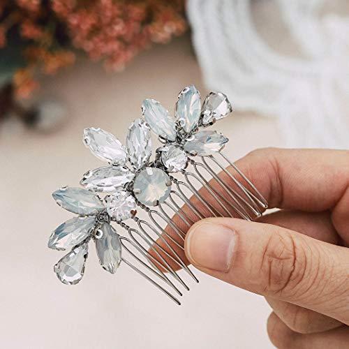 Handcess - Peinetas para pelo de novia y boda, con diamantes de...